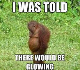 pregfunny-glowing